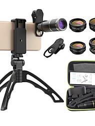 Недорогие -Объектив для мобильного телефона Объектив с фильтром / Объектив фиш-ай / Длиннофокусный объектив стекло / Алюминиевый сплав 10Х и более 32 mm 3 m 9 ° Линза / объектив со стендом