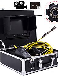 Недорогие -23 мм объектив промышленного эндоскопа 20 м рабочая длина 9-дюймовый дисплей с функцией видеокамеры ремонт автомобилей инспекция ремонт трубопроводов