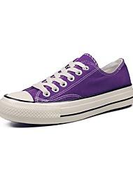 رخيصةأون -نسائي كانفا للربيع والصيف كلاسيكي / شيوع أحذية رياضية المشي كعب مسطخ أمام الحذاء على شكل دائري أصفر / أزرق / زهري