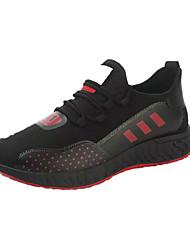 Недорогие -Муж. Комфортная обувь Сетка Весна На каждый день Спортивная обувь Для прогулок Дышащий Черно-белый / Черный / Красный