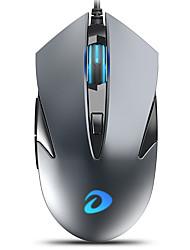 economico -dareu lm113 mouse da gioco ottico usb cablato 500/1000/2000/3000 dpi 4 livelli di dpi regolabili 6 pezzi chiavi