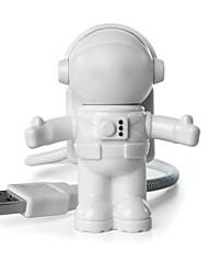 Недорогие -1 шт. Привело творческий астронавт дизайн ночник теплый белый USB-порт 5 В