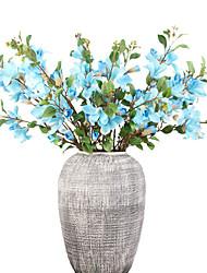 abordables -Fleurs artificielles 1 Une succursale Classique Européen Style Simple Orchidées Fleurs éternelles Fleur de Table