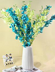 billige -Kunstige blomster 1 Gren Klassisk Moderne Moderne Europeisk Orkideer Evige blomster Gulvblomst