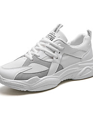 cheap -Men's Chunky Sneakers Mesh Summer Sporty / Casual Athletic Shoes Walking Shoes Breathable White / Black / Beige