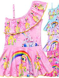 ราคาถูก -ชุดว่ายน้ำ ชุดว่ายน้ำชุดคอสเพลย์ สาวบี สำหรับเด็ก คอสเพลย์และคอสตูม คอสเพลย์ วันฮาโลวีน สีบานเย็น / ฟ้า / สีชมพู Unicorn Printing Polyster เด็กผู้หญิง วันคริสต์มาส วันฮาโลวีน เทศกาลคานาวาล