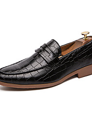 cheap -Men's Novelty Shoes Faux Leather Spring & Summer Casual Loafers & Slip-Ons Breathable Black / Brown / Tassel / Party & Evening