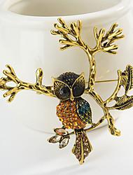 povoljno -Žene Klasičan Broševi Sova Sa životinjama Crtići slatko Moda folk stil Broš Jewelry Zlato Pink Za diplomiranje Dar Dnevno Karneval Festival