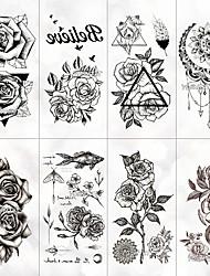 Недорогие -8 pcs Временные татуировки Защита от влаги / Лучшее качество Лицо / руки / плечо Временные тату