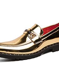 رخيصةأون -رجالي البس حذائك المواد التركيبية الربيع / الخريف كاجوال / بريطاني المتسكعون وزلة الإضافات غير الانزلاق ذهبي / أسود
