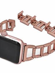 voordelige -Horlogeband voor Apple Watch Series 4/3/2/1 Apple Klassieke gesp / Sieradenontwerp Metaal Polsband
