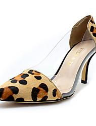 abordables -Mujer Pelo de Caballo Primavera Tacones Tacón Stiletto Leopardo