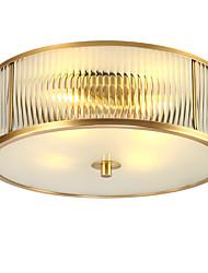 hesapli -JSGYlights 4-Işık Gömme Montajlı Işıklar Ortam Işığı Pirinç Bakır Cam Yeni Dizayn 110-120V / 220-240V