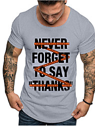 economico -T-shirt Per uomo Alfabetico Bianco L