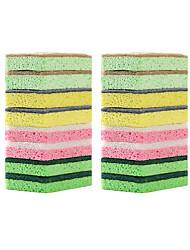 billiga -Kök Städtillbehör Nylon mikrofiber Sponge polyesterfiber Svamp Ny Design Skydd Verktyg 1set