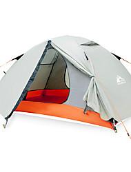 Недорогие -Hewolf 2 человека Семейный кемпинг-палатка На открытом воздухе С защитой от ветра Дожденепроницаемый Пригодно для носки Двухслойные зонты Карниза Палатка >3000 mm для
