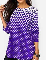 cheap -Women's T-shirt - Polka Dot Black XL