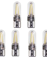 Недорогие -6шт T10 Автомобиль Лампы 2 W COB 150 lm 2 Светодиодная лампа Подсветка для номерного знака / Задний свет / Боковые габаритные огни Назначение Универсальный Все года