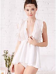 abordables -Femme Costumes Vêtement de nuit Dentelle, Couleur Pleine