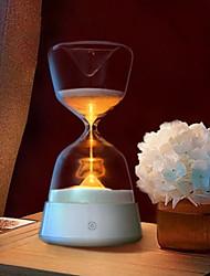 hesapli -1pc Elmas kum saati Gece aydınlatması LED Sarı Yaratıcı <=36 V