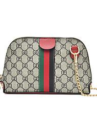 رخيصةأون -نسائي أكياس PU حقيبة كروس سلسلة أسود / أحمر / بني