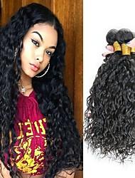 economico -6 pacchi Brasiliano Poco ondulata capelli naturali Remy Ciocche a onde capelli veri Bundle di capelli Un pacchetto di soluzioni 8-28inch Colore Naturale Tessiture capelli umani Carino Disegni alla