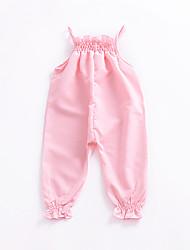 halpa -Vauva Tyttöjen Aktiivinen Yhtenäinen Hihaton Polyesteri Yksiosaiset Punastuvan vaaleanpunainen