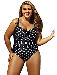 cheap -Women's One Piece Swimsuit UV Sun Protection Quick Dry Wearable Nylon Sleeveless Swimwear Beach Wear Bodysuit Patchwork Swimming / Stretchy