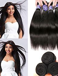 hesapli -4 Paket Hintli Saçı Düz İşlenmemiş Gerçek Saç % 100 Remy Saç Örgü Demetleri İnsan saç örgüleri Paketi Saç Gerçek Saç Postişleri 8-28 inç Doğal İnsan saç örgüleri Kokusuz Kadın En iyi kalite İnsan Sa