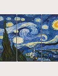 olcso -Nyomtatás Kifeszített vászonnyomat - Modern Realizmus Klasszikus Modern Három elem