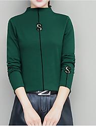 お買い得  -女性用 Tシャツ ソリッド グリーン L