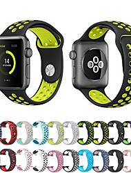 voordelige -Horlogeband voor Apple Watch Series 4/3/2/1 Apple Sportband Silicone Polsband