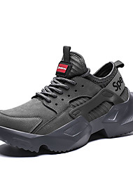 cheap -Men's Comfort Shoes PU(Polyurethane) Summer Athletic Shoes Walking Shoes Black / Gray / Red