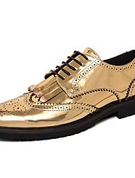 ieftine -Bărbați Pantofi formali Sintetice Primăvară / Toamnă Casual / Englezesc Oxfords Non-alunecare Auriu / Negru / Franjuri / Party & Seară