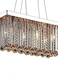 Недорогие -6-Light Кристаллы Люстры и лампы Потолочный светильник Хром Металл Хрусталь 110-120Вольт / 220-240Вольт Лампочки не включены / E12 / E14