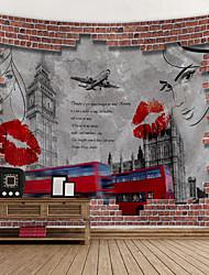 abordables -Tema Clásico Decoración de la pared 100% Poliéster Modern Arte de la pared, Tapices de pared Decoración