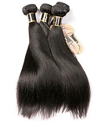 olcso -3 csomag Brazil haj Egyenes 100% Remy hajszövési csomó Az emberi haj sző Bundle Hair Egy Pack Solution 8-28 hüvelyk Természetes szín Emberi haj sző Egyszerű Szagmentes Sima Human Hair Extensions Női
