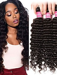 cheap -6 Bundles Brazilian Hair Deep Wave 100% Remy Hair Weave Bundles Natural Color Hair Weaves / Hair Bulk Bundle Hair One Pack Solution 8-28 inch Natural Color Human Hair Weaves Fashionable Design Soft