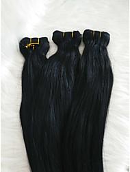 billige -Fletning af hår Lige Hårforlængelse af menneskehår Menneskehår 1 Stykke Hårfletninger Sort 18 inch 18 tommer (ca. 44cm) Klassisk / Naturlig Dagligdagstøj / Arbejde Peruviansk hår