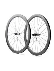Недорогие -FARSPORTS 700CC Колесные пары Велоспорт 28 mm Шоссейный велосипед Углеродное волокно Подходит для клинчерной покрышки / бескамерной шины 24/24 Спицы 58 mm