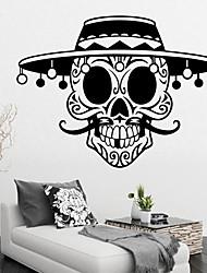 Недорогие -длинная борода круглая шляпа пиратский череп стикер стены декоративные хэллоуин арт обои