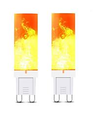 preiswerte -3 W LED Doppel-Pin Leuchten 240-300 lm G9 T 36 LED-Perlen SMD 2835 3D Feuerwerk Warmes Weiß 220 V, 2pcs
