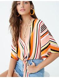 economico -Camicia Per donna A strisce Arcobaleno M