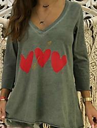 economico -T-shirt Per donna Con stampe, Fantasia geometrica Bianco XXXL