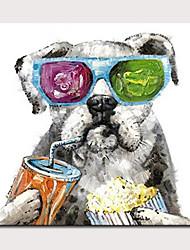 billige -mintura® håndmalet abstrakt hund oliemalerier på lærred moderne væg kunst billede til boligindretning klar til at hænge