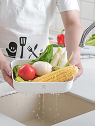 ราคาถูก -BoBer PP (โพรพิลิน) ตัวกรอง ตระกร้าผลไม้ มัลติฟังก์ชั่น Gadget ครัวสร้างสรรค์ เครื่องมือเครื่องใช้ในครัว สำหรับเครื่องทำอาหาร Kitchen 3 ชิ้น