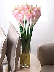 abordables -Fleurs artificielles 5 Une succursale Classique Européen Style Simple Calla Lily Fleurs éternelles Fleur de Table