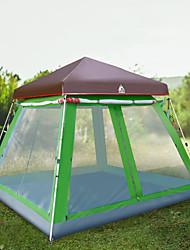 Недорогие -Hewolf 8 человек Семейный кемпинг-палатка На открытом воздухе С защитой от ветра Дожденепроницаемый Пригодно для носки Однослойный Карниза Палатка >3000 mm для Походы / туризм / спелеология Пикник