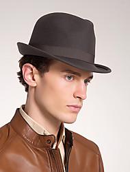 preiswerte -Wollfilz Hüte mit Einfarbig 1 Stück Freizeitskleidung / Belmont Stakes Kopfschmuck