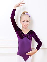 ราคาถูก -ชุดเต้นสำหรับเด็ก / ชุดเต้นบัลเล่ย์ ชุดแนบเนื้อสำหรับการเต้น เด็กผู้หญิง การฝึกอบรม / Performance ฝ้าย ข้อต่อ แขนยาว ธรรมชาติ ชุดแนบเนื้อสำหรับการเต้น